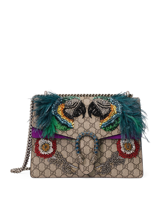 Gucci Multicolor Gg Supreme Parrot Medium Dionysus Bag
