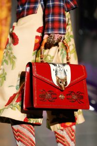 Gucci Red Broche Top Handle Bag - Fall 2017