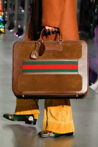 Gucci Tan Suede/Leather Suitcase Bag - Fall 2017