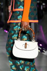 Gucci White Ostrich Bamboo Top Handle Bag 2 - Fall 2017