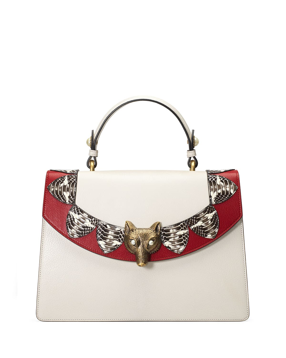 gucci bags price list. gucci white/red loved broche top handle bag bags price list
