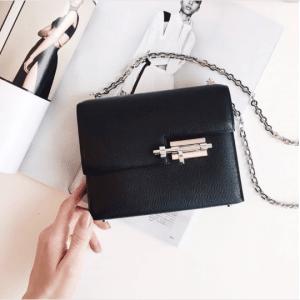 Hermes Black Verrou Chaine Bag