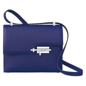 Hermes Blue Verrou Shoulder Bag