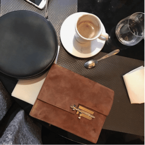 Hermes Brown Verrou Pochette Bag