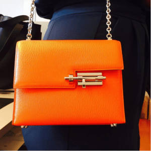 Hermes Orange Verrou Chaine Bag