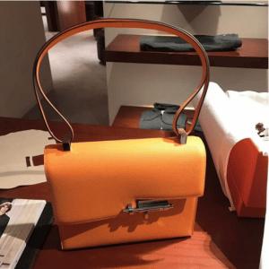 Hermes Orange Verrou Shoulder Bag