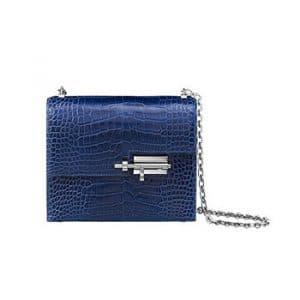 Hermes Sapphier Blue Mississippiensis Alligator Verrou Chaine Bag