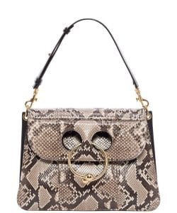 J. W. Anderson Natural/Black Python Medium Pierce Bag