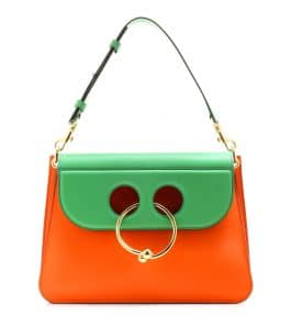 J. W. Anderson Tangerine/Green Medium Pierce Bag