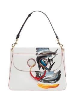 J. W. Anderson White/Multicolor Animated Medium Pierce Bag