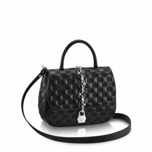 Louis Vuitton Black Damier Chain It PM Bag