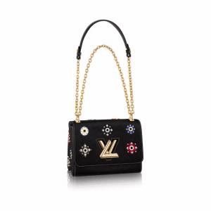 Louis Vuitton Black Epi Twist MM Mechanical Flowers Bag