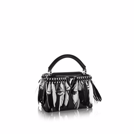 Image Result For Louis Vuitton Feather Embellished Capucines Mini Bag
