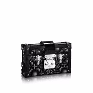Louis Vuitton Black Monogram Malletage Petite Malle Bag