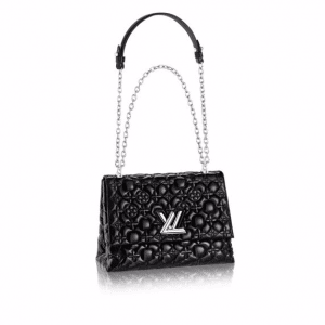 Louis Vuitton Black Monogram Malletage Twist GM Bag