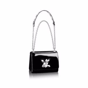 Louis Vuitton Black Monogram Vernis Twist PM Bag