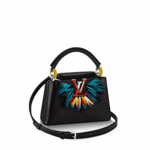 Louis Vuitton Black Multicolor Capucines Mini Parrot Bag