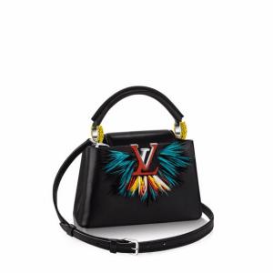 Louis Vuitton Black Multicolor Capucines Mini Parrot Bag