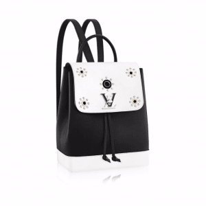 Louis Vuitton Black/White Lockme Backpack Mechanical Flowers Bag