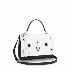 Louis Vuitton Black/White Lockme II Mechanical Flowers Bag