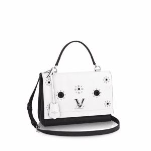 Louis Vuitton Black/White Lockme II Mechanical Flowers Bag