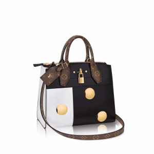 Louis Vuitton Black/White Studded City Steamer PM Bag