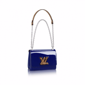 Louis Vuitton Blue Monogram Vernis Twist PM Bag