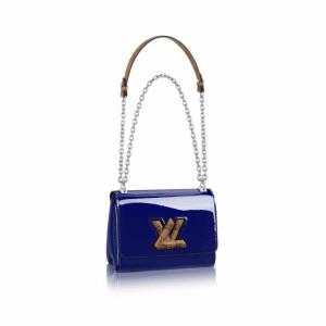 Louis Vuitton Blue Monogram Vernis Twist PM Bag