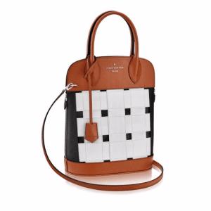 Louis Vuitton Caramel/White/Black Calfskin Tressage Tote Bag