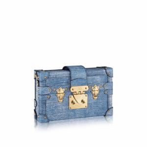 Louis Vuitton Denim Epi Petite Malle Bag