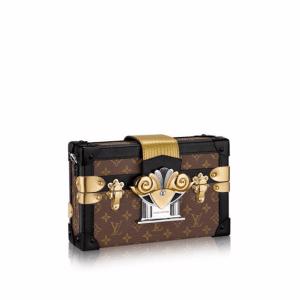 Louis Vuitton Embellished Monogram Canvas Petite Malle Bag