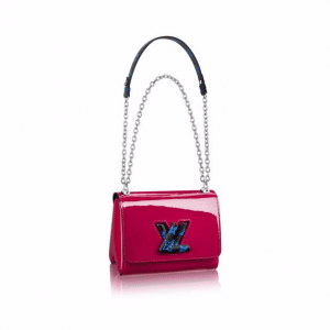 Louis Vuitton Fuchsia Monogram Vernis Twist PM Bag