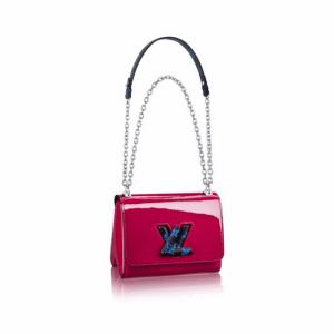 Louis Vuitton Fuchsia Monogram Vernis Twist PM Bag