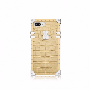 Louis Vuitton Gold Crocodile Eye-Trunk for iPhone 7 Plus Case