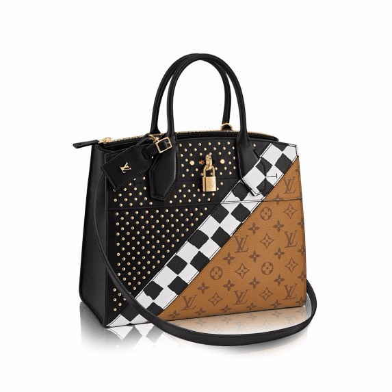 d6dacc2d1080 Louis Vuitton Monogram Reverse City Steamer MM Night Light Bag