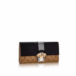 Louis Vuitton Monogram Reverse Column Clutch Bag