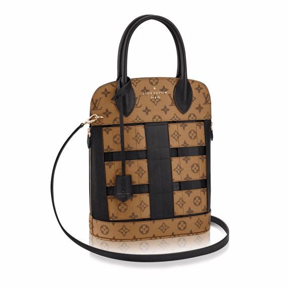 Louis Vuitton Monogram Reverse Tressage Tote Bag