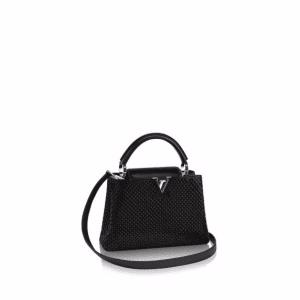 Louis Vuitton Noir Capucines Mini Bag