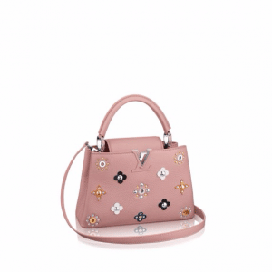Louis Vuitton Pink Capucines BB Mechanical Flowers Bag