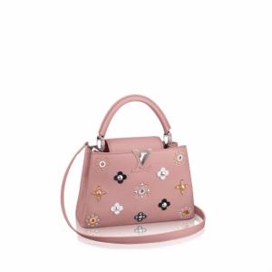 Louis Vuitton Pink Capucines BB Mechanical Flowers Bag