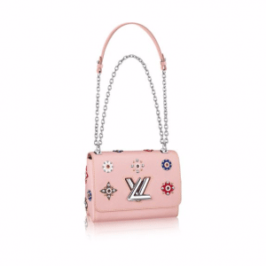 Louis Vuitton Pink Epi Twist MM Mechanical Flowers Bag