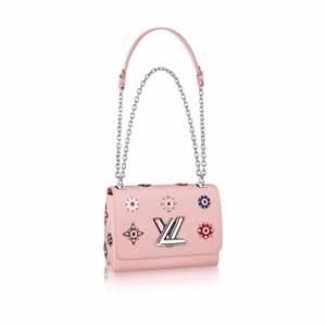 Louis Vuitton Pink Epi Twist MM Mechanical Flowers Bag