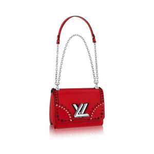 Louis Vuitton Red Epi Twist PM Braided Studs Bag