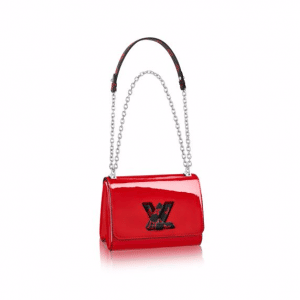 Louis Vuitton Red Monogram Vernis Twist PM Bag