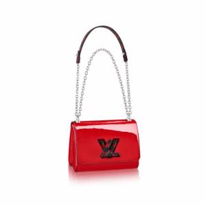 Louis Vuitton Red Monogram Vernis Twist PM Bag