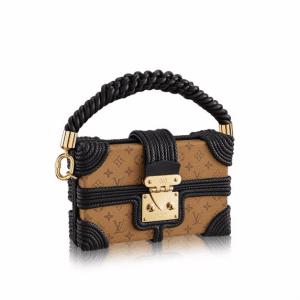 Louis Vuitton Rope Embossed Monogram Reverse Petite Malle Bag
