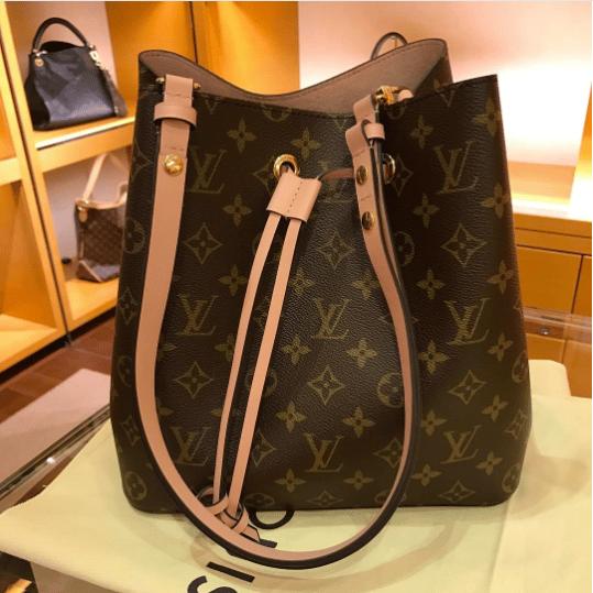 194ebdd1ab71 Louis Vuitton Rose Poudre Monogram Canvas Neonoe Bag 3. IG  lvandpaperaddict