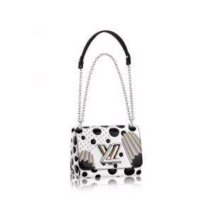 Louis Vuitton White/Black Epi with Columns and Dots Twist PM Bag