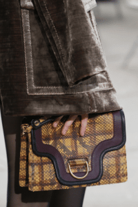 Marc Jacobs Yellow/Violet Python:Leather Flap Bag - Fall 2017