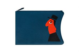 Moynat Petrol Blue Michel Pouch Bag - Mambo for Moynat